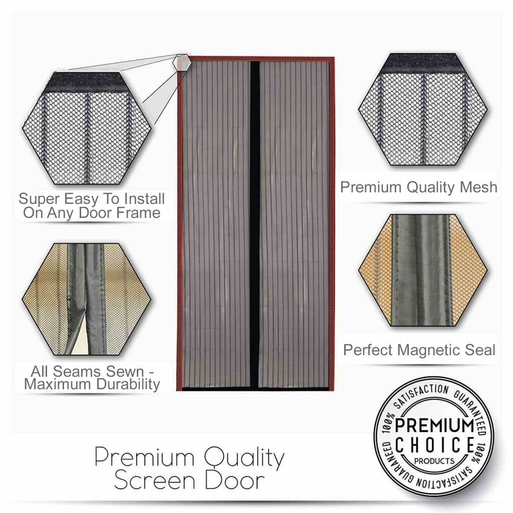magnetic fly screen door curtain